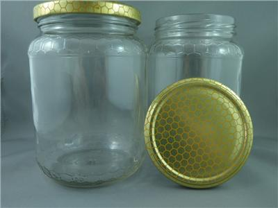 Honey container - 1kg Glass Jar