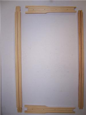 Frames with grooved bottom bar